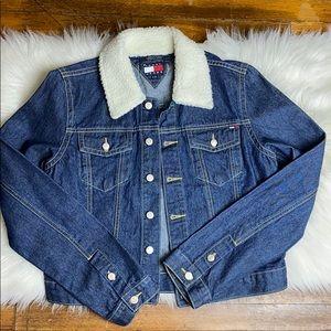 Tommy Hilfiger Jeans Denim Jean Jacket Sherpa